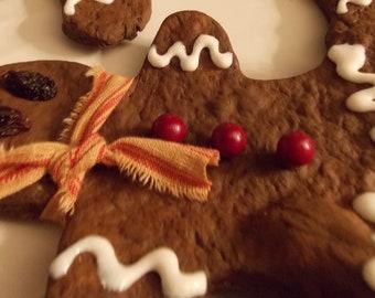 Primitive, Christmas, Non Edible, Gingerbread Men Set of 3 All Cute n Grungy Good!
