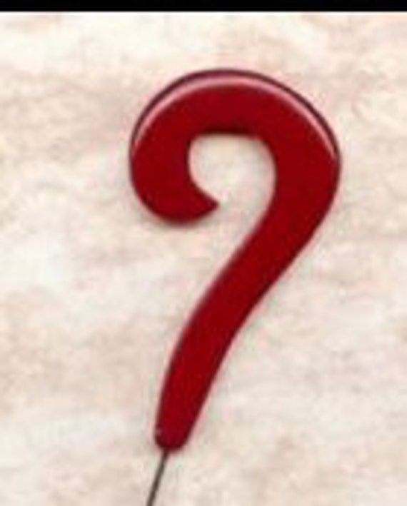 Genuine authentic period 1930's American Bakelite                            Question Mark Hat Pin