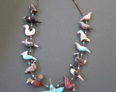 Handcarved and inlaid Bird Fetish Necklace