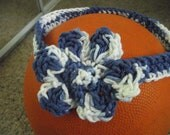 Blue And White Headband.