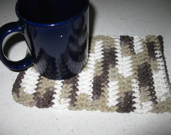 Set of Two (2) Crocheted Mug Rugs / Coasters / Hot Pads