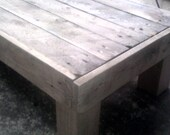 reclaimed pallet wood shabby chic coffee table