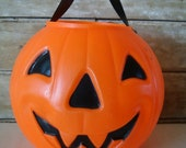 Vintage Trick Or Treat Pumpkin Medium Size