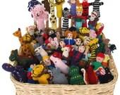 lot of 25 Handknitted Finger Puppets Peru NEW