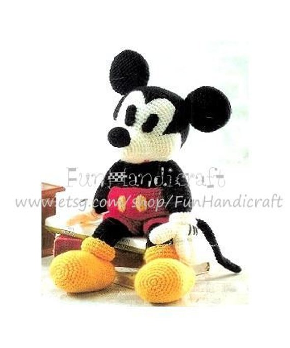 Disney Mickey Mouse Amigurumi Pattern in by FunHandicraft ...