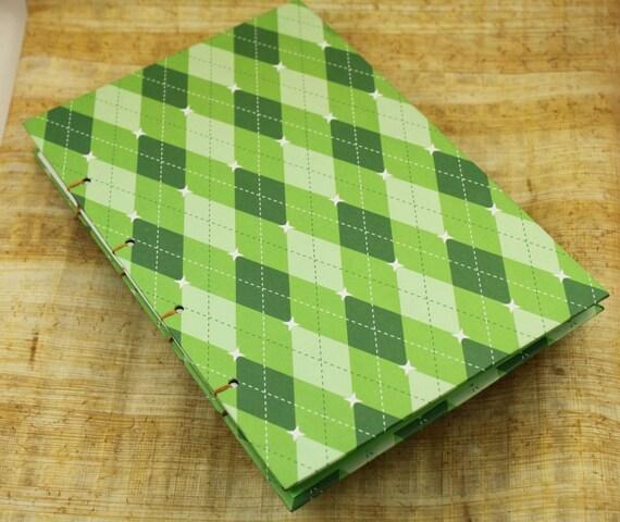 Green Argyle Handmade Journal