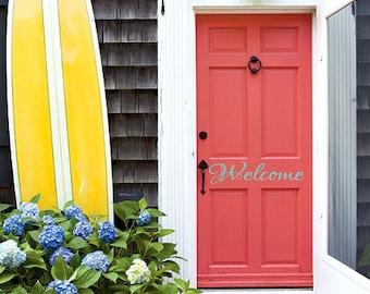 Welcome Decal Front Door Welcome Sign Vinyl Decal