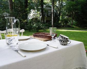 Natural Linen Tablecloth, Pure linen tablecloth, Rustic tablecloth, Wedding tablecloth, Linen