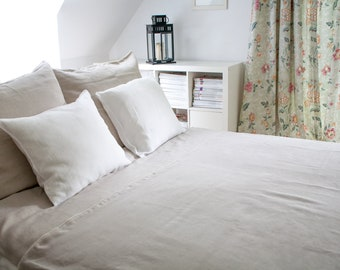 Linen bedding  Twin Size- Duvet cover and pillow case, pure linen,