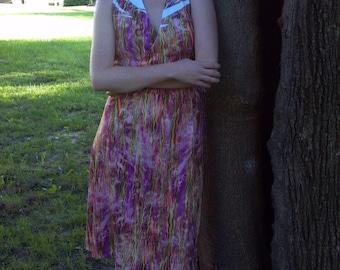Pink Knit Halter Dress
