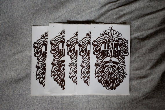 5 Pack of Team Beard Stickers