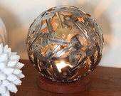 Small Key Ball Tea Light, 13 cm, Key Light,  Metal Sculpture, Hanging tea light holder
