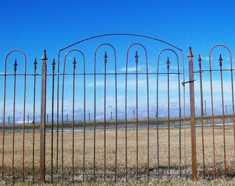 Custom Made 4' Wide Wrought Iron Gate that Works with The 4' Metal Fence
