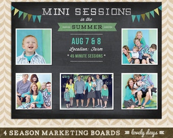 Blog Board Photography Marketing Mini Session Ad Template for Photographers INSTANT DOWNLOAD