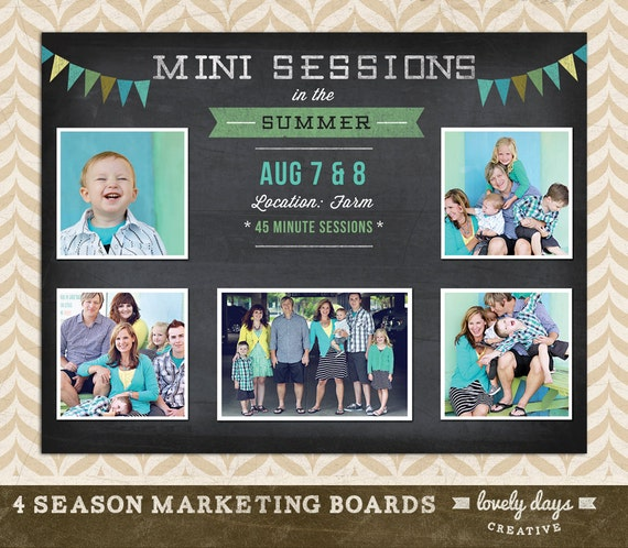 free photography marketing templates - items similar to blog board photography marketing mini