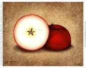 Apple & Star -  Pagan Wiccan Print - Brigid Ashwood