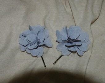 Gray Floral Bobby Pin - One Pin