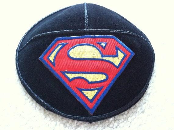 Superman Suede Kippah-Yarmulke