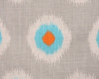 One Yard Domino in blue Premier Prints Ikat Look Fabric Cotton