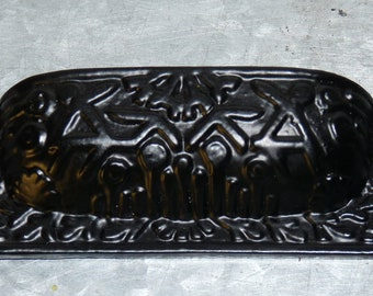Drawer Handles, Knobs, Black Cast Iron Pulls, Drawer Pulls, Furniture Pulls, Antique Knobs, Cabinet Pulls, Dresser Drawer Pulls