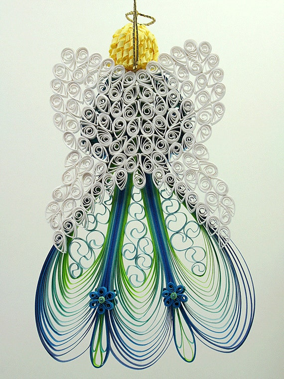 quilled    filigree ornament heavenly angel by agiftwithinagift