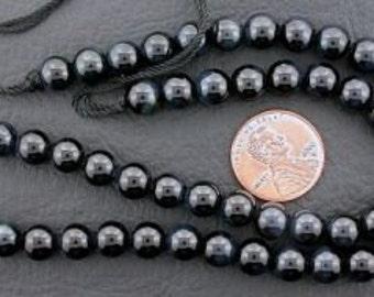 6mm round gemstone blue tigereye beads