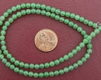 4mm round gemstone green aventurine beads