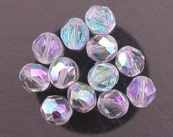 12  alexandrite  ab czech fire crystal beads 8mm