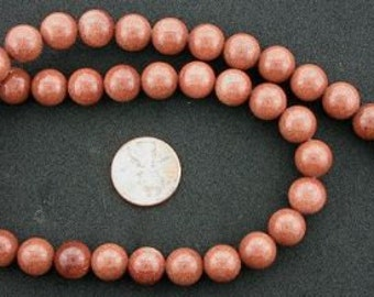 10mm round gemstone goldstone beads