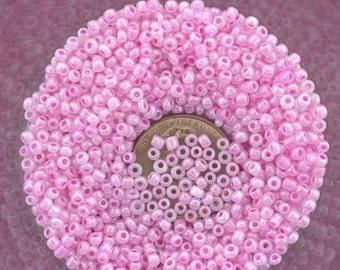 20 gram lot pink 11 seed beads
