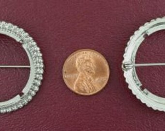 silver plated 50 cent piece pin mounting