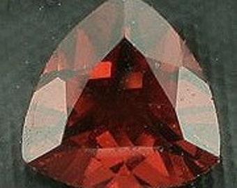 6mm faceted garnet trilliant gem stone gemstone