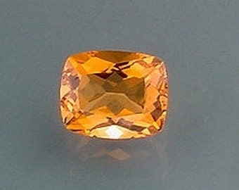 11x9 cushion brandy quartz gem stone gemstone