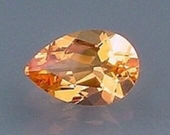 12x8 pear brandy quartz gem stone gemstone