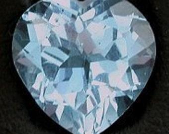 10mm heart blue topaz faceted gem stone gemstone