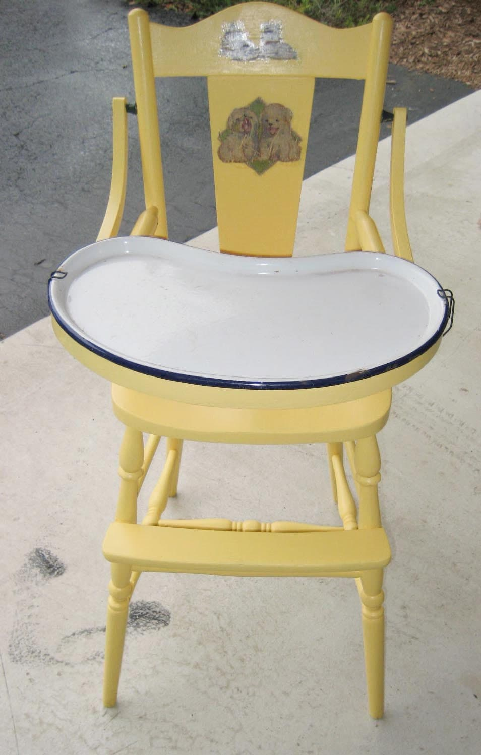 Classic 1940 S High Chair With Enamel Tray And By