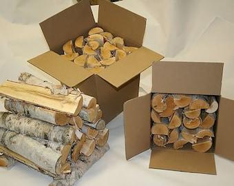 Split White Birch Logs for Firewood