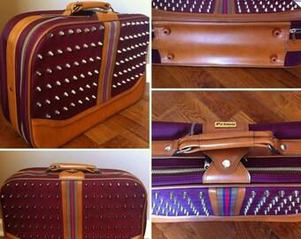 Vintage, Refurbished Studded Suitcase