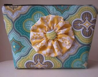 Make up bag with flower