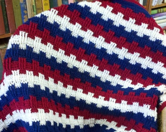 Crocheted Afghan - Fourth of July