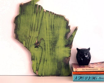Wisconsin State Wall Decor Rustic Pine Wood Sign Wall Decor Rustic Americana Country Chic Alternative Wedding Guest Book