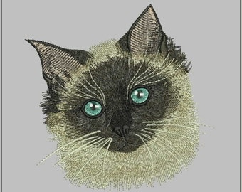 Siamese cat  embroidery design - Design for embroidery machine - hoop 6/6