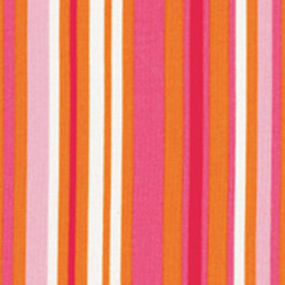 Fat Quarter Magenta/ Gold/ Hot Pink Stripe from RJR Fabrics Crazy for Dots & Stripes