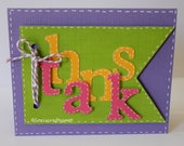 Thanks Dimensional Banner Thank You Card