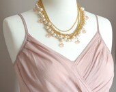 Victorian Pearl and Gold Charm Necklace