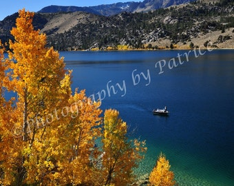 Fishing on June Lake - 8x12 Original Photo