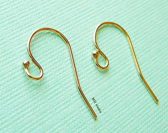on sale 100pcs 14K yellow Gold Filled Single Dot Earring Hooks French Ear wires E01g-100