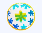 Hand painted Cotton & Felt Coaster // Fabric Paint // Handmade // Home Decor // Holiday Gift under USD10 :)