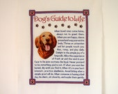 Vintage Dogs guide to life Cross stitch