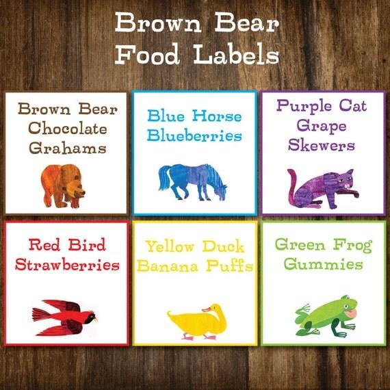 Items Similar To Brown Bear Eric Carle Inspired Birthday
